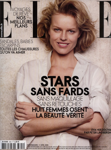 Celebrities With No Makeup for French Elle April 2009