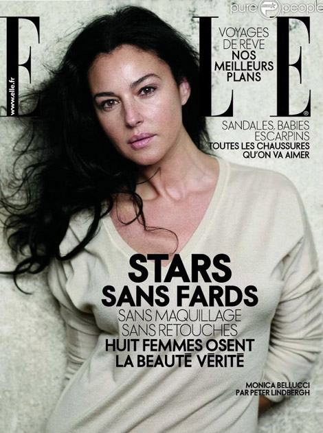 Filed in: Celebrities With No Makeup for French Elle April 2009 | Tagged
