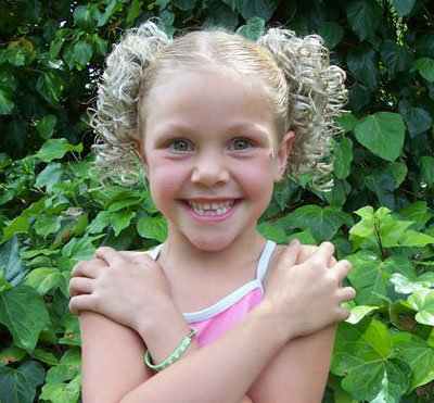These are pictures of some classic ponytail hairstyles for little kids.