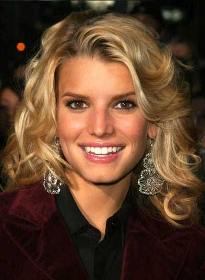 big forehead hairstyles. Two big celebrities with square face shapes include Jessica Simpson and