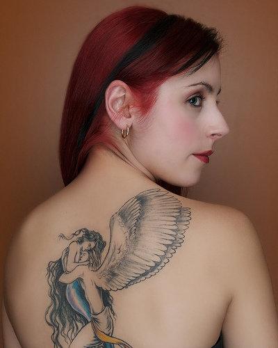 girl tattoogirl tattoosFairy Tattootattoo design Girl tattoo With Fary