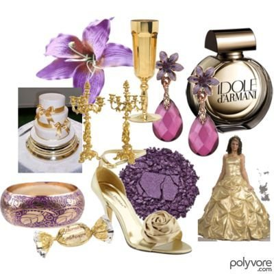 Filed In Fashion Related Polyvore purpleandgoldwedding