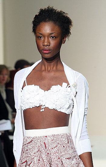 London Fashion Week: Nicole Farhi Spring Summer 2009 | Spring 2009, runway, gallery | Coutorture :  spring 2009 white bustier lace london