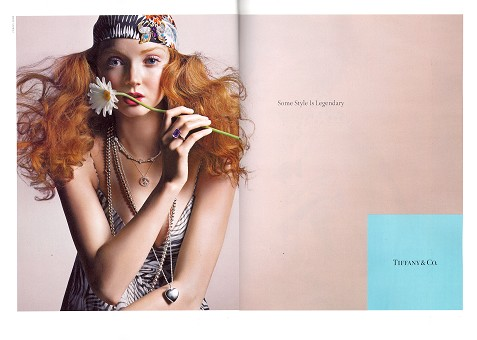 Lily Cole for Tiffany F/w 08.09