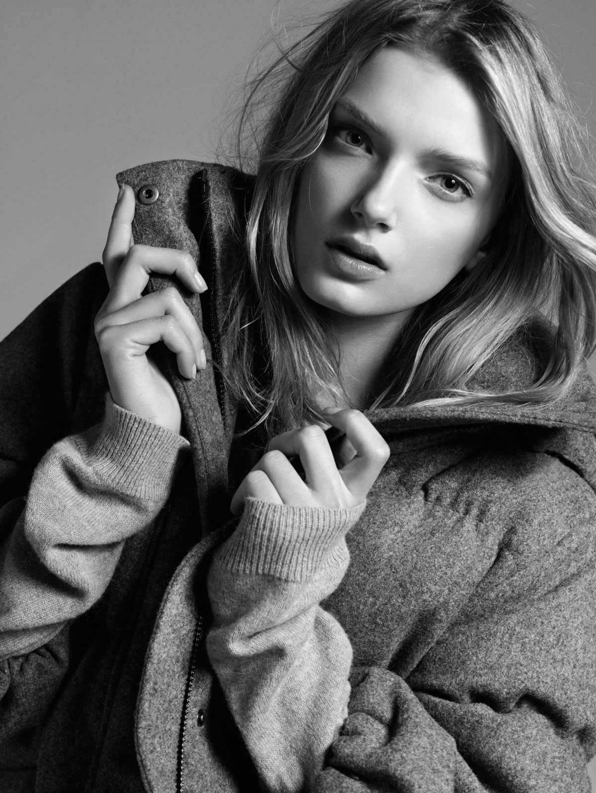Lily Donaldson Down to Earth Model B/W Photo