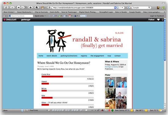 Create a wedding website free
