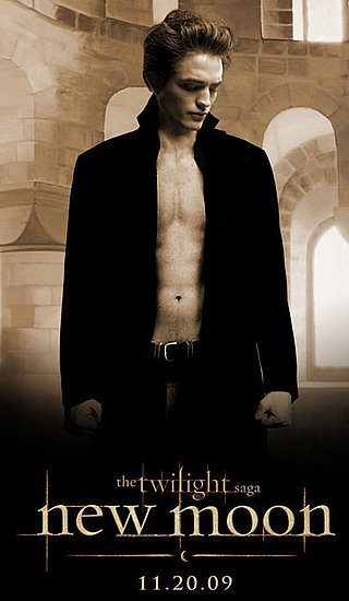 robert pattinson new moon poster. Shirtless Robert Pattinson New