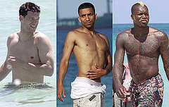 shirtless footballers