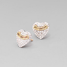 Elegant Juicy Couture Earrings With Silver