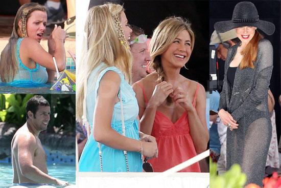 Pictures of Jennifer Aniston, Shirtless Adam Sandler