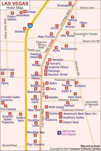Vegas Strip Map Pdf Park Ideas